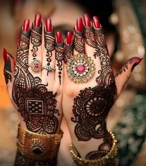 Dulhan Mehndi Designs For Hands Images