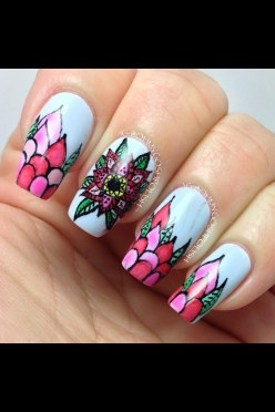 pretty and intricate nail art