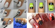 spooky stylish nail art
