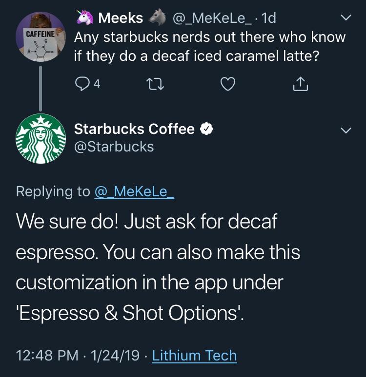 Starbuck's Tweet