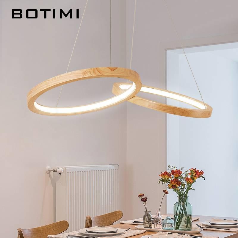twee Houten Ronde Lamp  Plangadesign moderne design lampen