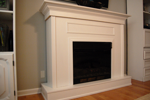Build A Fireplace Building A Custom Electric Fireplace Surround | Planitdiy