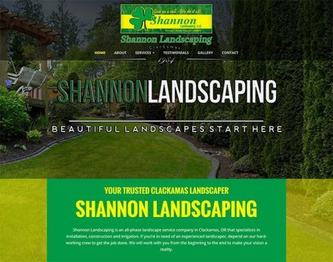 Thumbnail image of Shannon Landscaping website