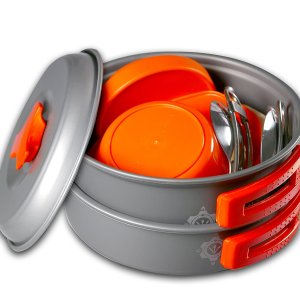 Best BPA-FREE 13 Piece Camping Cookware Set