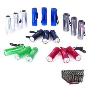 EverBrite Mini Aluminum LED Flashlight 18-Pack