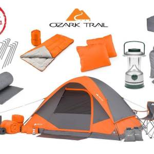 Family Cabin Camping Equipment Set