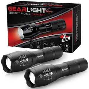 GearLight 2 Pack S1000 LED Tactical Flashlights