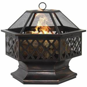 Hex Shaped Outdoor Home Garden Fireplace