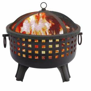 Landmann 23-1/2-Inch Savannah Garden Light Black Fire Pit