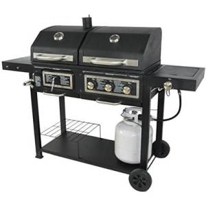 Portable Dual Fuel Outdoor BBQ Grill