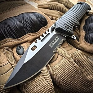 Tac-Force 9 Inch Spring Assisted Sawback Bowie Knife