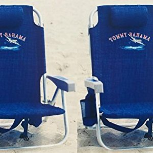 Tommy Bahama Backpack Cooler Chair with Storage Pouch 2 Set