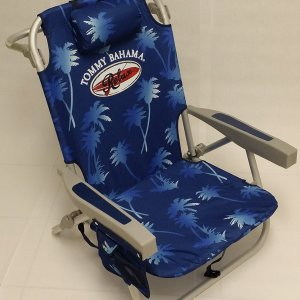 Tommy Bahama Backpack Cooler Chair with Towel Bar