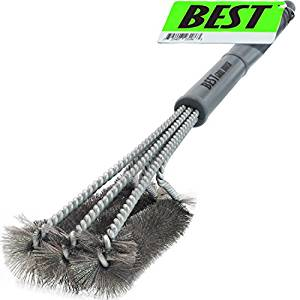 18 Inch BBQ Cleaning Brush with Wire Bristles and Soft Comfortable Handle