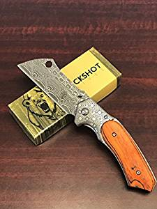 Buckshot Thumb Open Spring Assisted with Inlay Classic Razor Pocket Knife