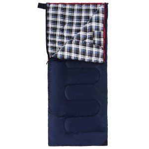 Cotton Flannel Envelope Blue 3 Season Sleeping Bag