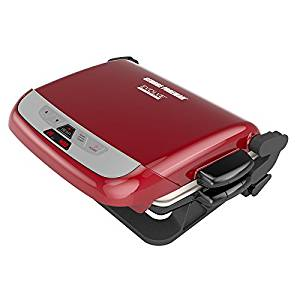 George Foreman Red 5-Serving Multi-Plate Evolve Grill System with Ceramic Plates