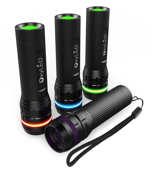 OxyLED OxyWild MD02 Zoomable Mini LED Flashlight 4 Pack