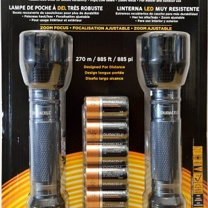2 Pack Duracell Durabeam Ultra 700 Heavy-Duty LED Flashlights