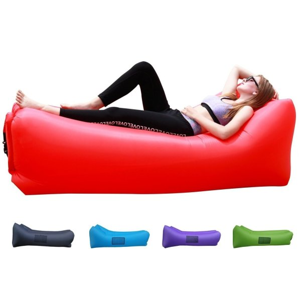 Easycouch Inflatable Waterproof Ripstop Lounger With Travel Bag