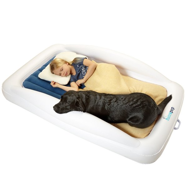 Inflatable Toddler Travel Air Bed with Safety Bumpers