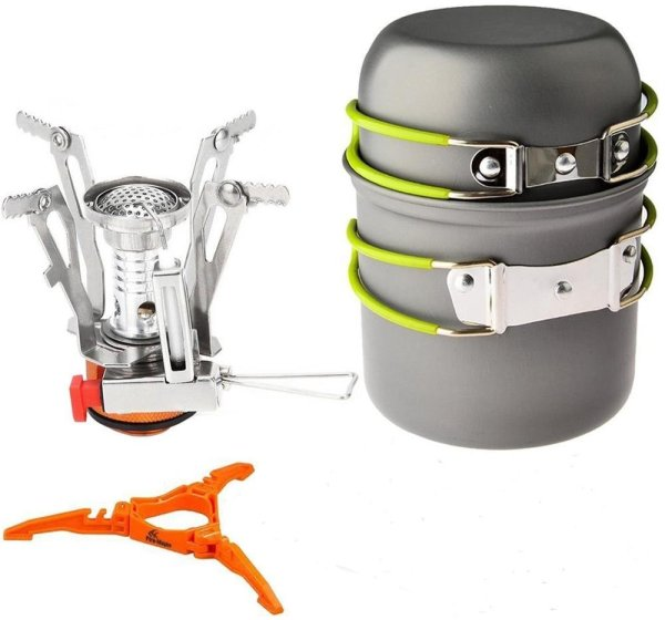 Samyoung Portable Outdoor Cookware Cooking Stove Propane Burner With Piezo Ignition