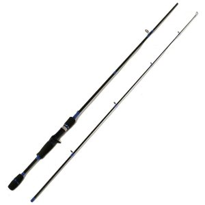2-Piece 7 Foot Graphite Portable Inshore Baitcast Rod