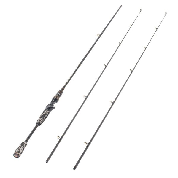 2-Piece 7 Foot Graphite Portable Medium Heavy Baitcast Rod