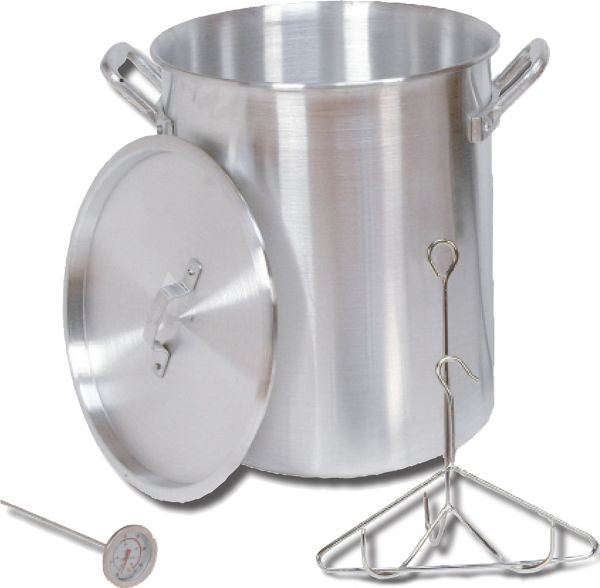 King Kooker 30 Quart Aluminum Turkey Pot Package Camp Cookware