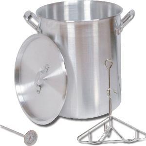 King Kooker 30 Quart Aluminum Turkey Pot Package Camp Cookware