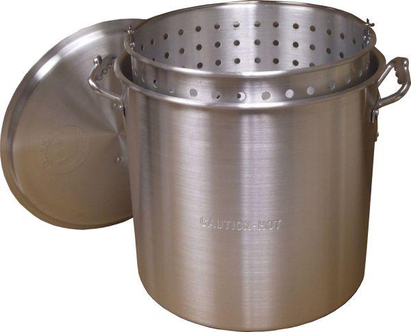 King Kooker Camping 60 Quart Aluminum Pot with Basket and Lid
