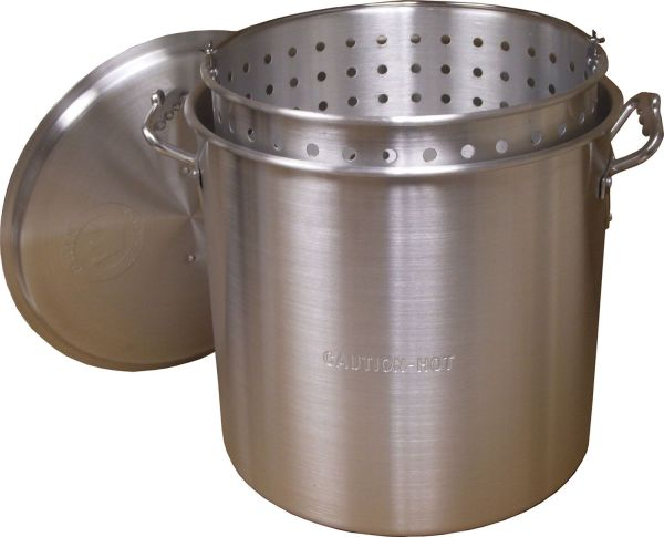 King Kooker 120 Qt Aluminum Pot with Basket and Lid