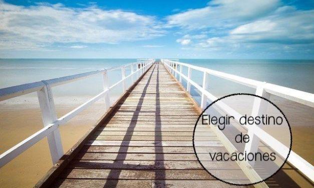 Elegir destino de vacaciones