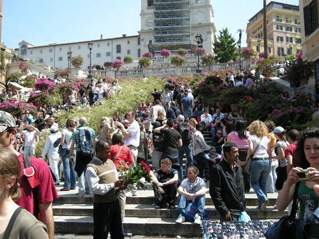 Escalinata Plaza de España en Roma