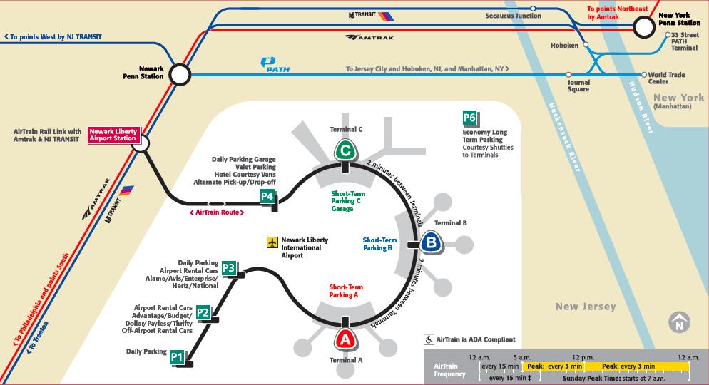 Plano Aeropuerto de Newark