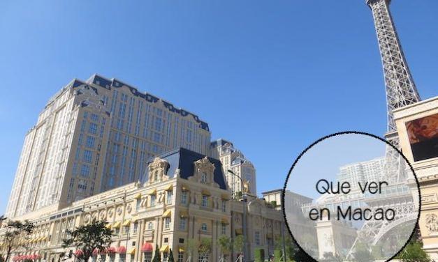 Que ver en Macao, una región llena de contrastes