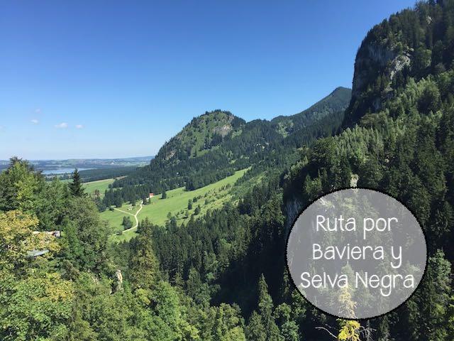 Ruta en coche por Baviera y Selva Negra