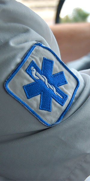 EMS patch on the side of someone's arm