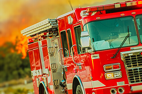 Close up of fire truck