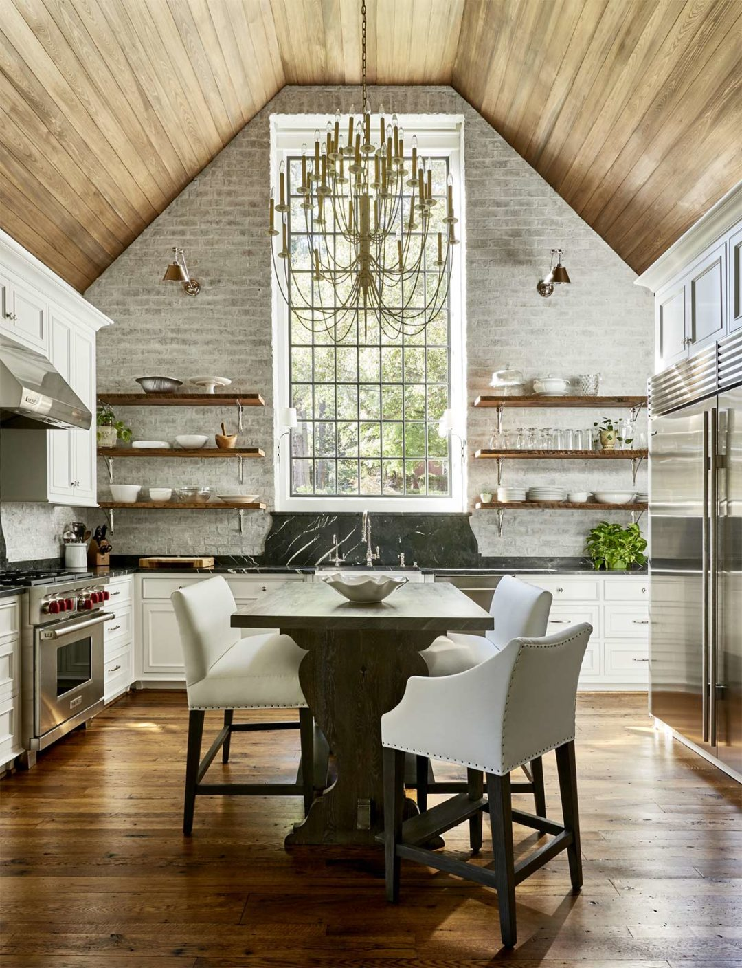 Vaulted Ceilings in the Kitchen Pros and Cons  Plank and