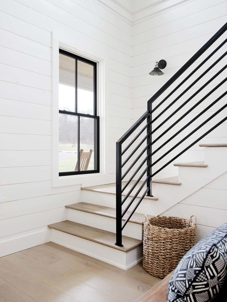 All The Details On Our Industrial Metal Stair Railing Plank And | Diy Metal Stair Railing | Outdoor | Exterior | Beginner | Indoor | Metal Baluster Drywall