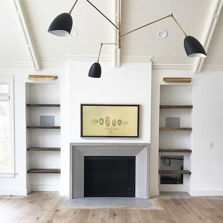 concrete fireplace inspiration and our