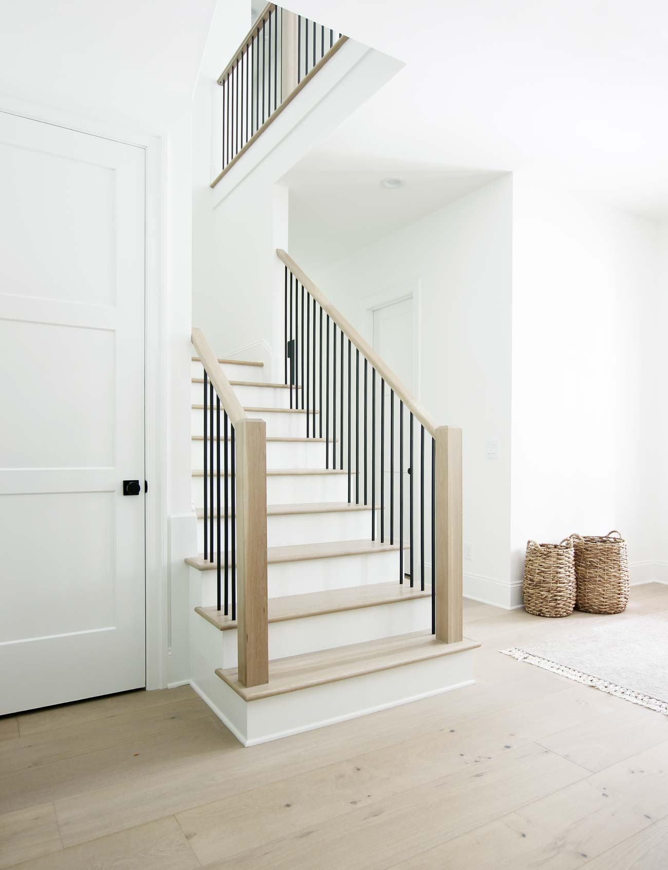 How To Match Solid Stair Treads To Prefinished Hardwood Flooring | European Oak Stair Treads | Basement Stairs | Hardwax Oil | Lumber | Risers | Wood Stair Railing
