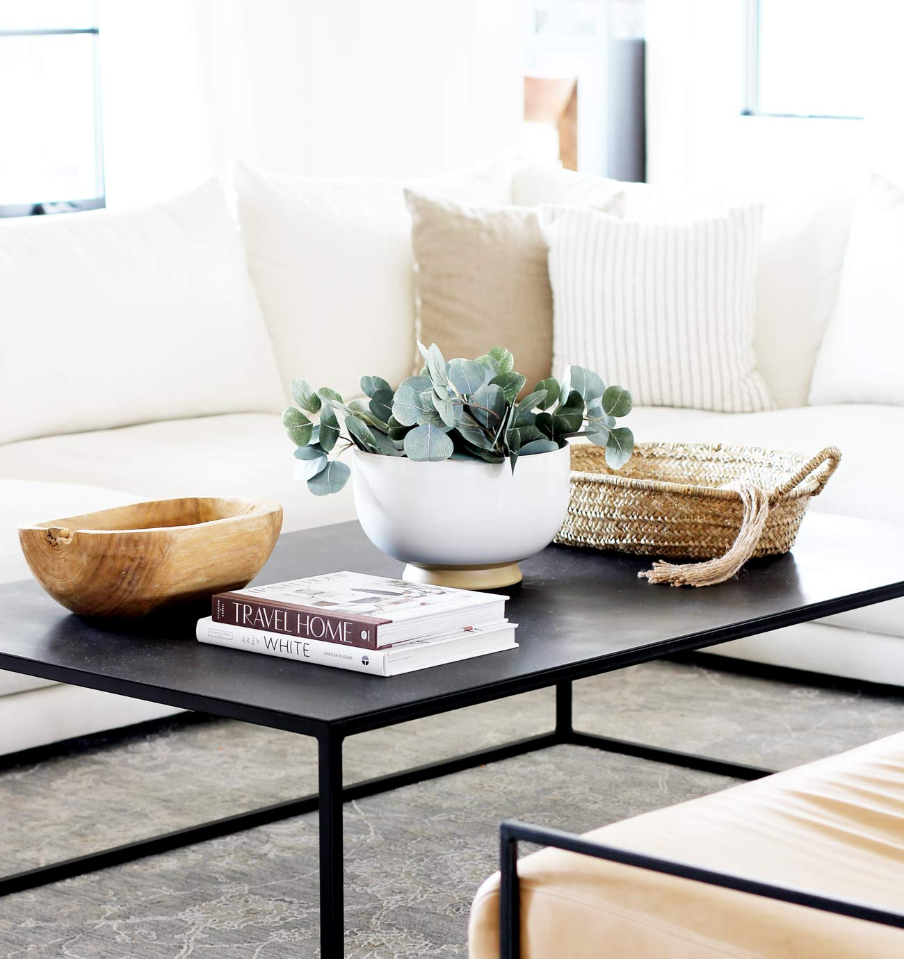 how to decorate a coffee table plank