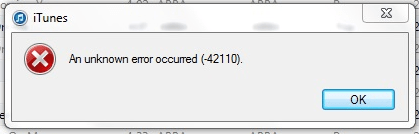 An unknown error occurred