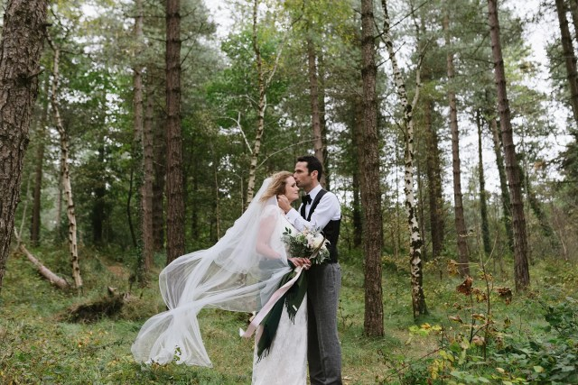 Halfpenny London's 'Iris Rose' Dress for a Windswept Irish Castle Wedding Inspired by the Wild Atlantic Way