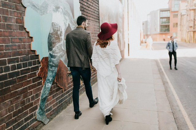 Earthy & Industrial Wedding Day Vibes With A Grazing Table + Ethical Wedding Dress