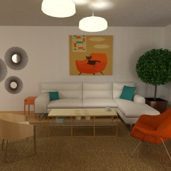 Mid Century Modern Living Room Lighting Feng Shui Colors 2018 Cozy Apartment Ideas Planner 5d