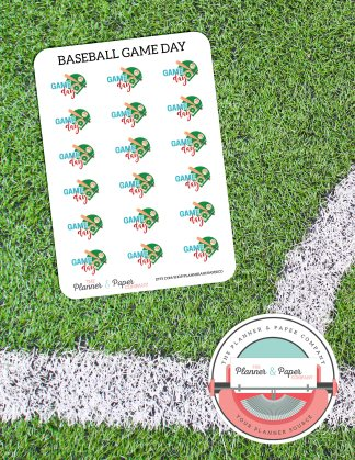 Baseball Game Day – Planner Stickers Small Sheet
