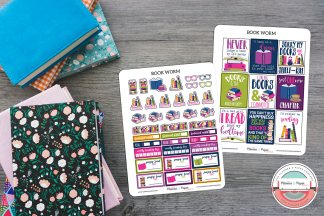 Book Worm Planner Sticker Kit